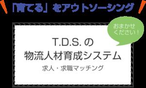 T.D.S.の 物流人材育成システム「育てる」をアウトソーシング